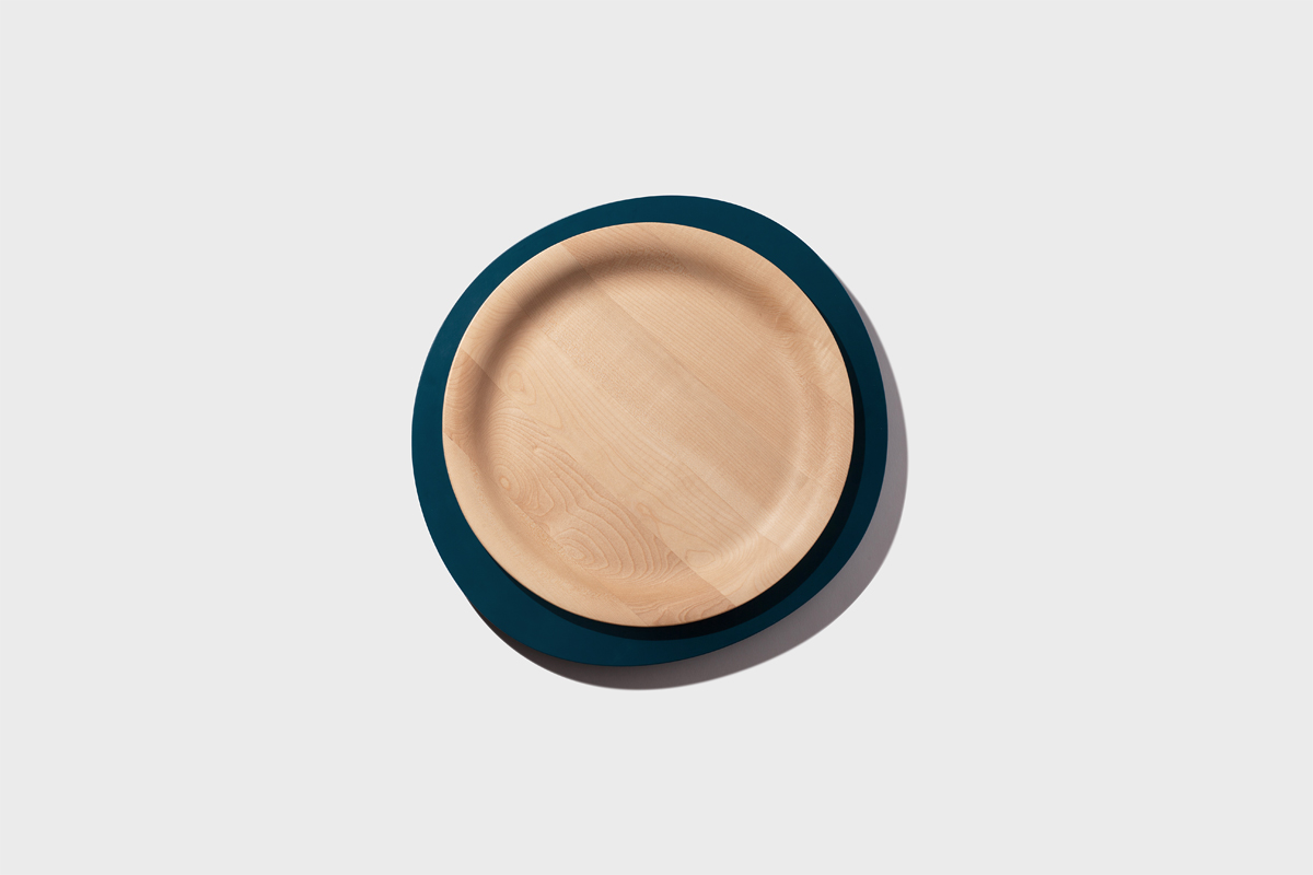 Simone Bonanni, product designer from Milano, designs a collection of trays. Made out of wood and metal.